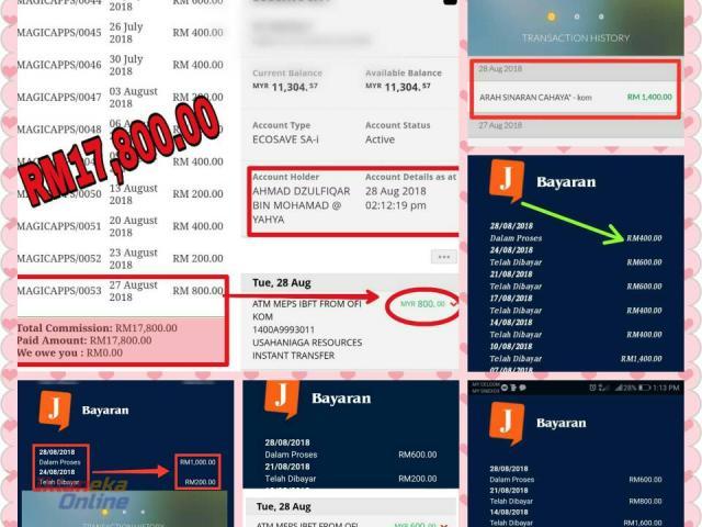 Income RM200 - RM1000 Sehari