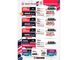 Halo Telco RM48 Sebulan 70GB High Speed Data