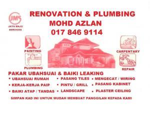 plumbing dan renovation 0178469114 mohd azlan wangsa maju