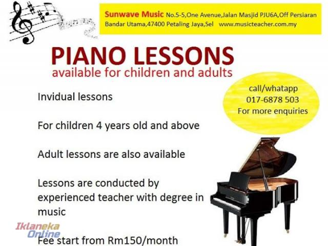 Music Class for Adult & Kids _Piano/Vocal/Ukulele / Cello/Drum/Guitar / Violin/Keyboard