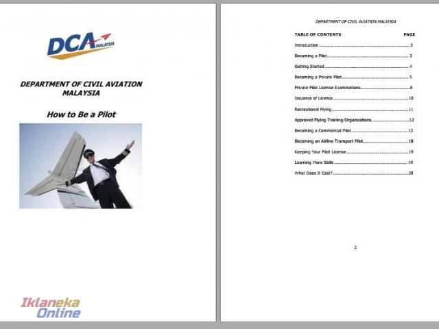 Free Ebook - How To Become a Pilot in Malaysia